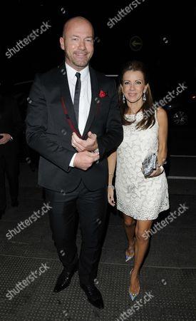Alan Shearer and Lainya Shearer