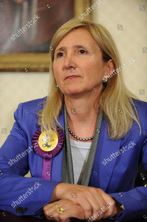 Marta Andreasen Mep South East At The Ukip Press Conference.