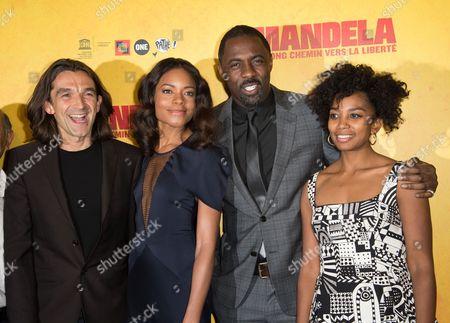 Justin Chadwick, Naomie Harris, Idris Elba and Lindiwe Matshikiza