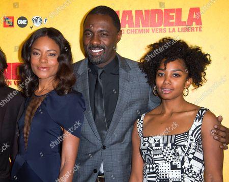 Naomie Harris, Idris Elba and Lindiwe Matshikiza