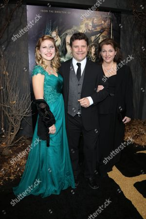Sean Astin, Christine Harrell Astin and Alexandra Astin