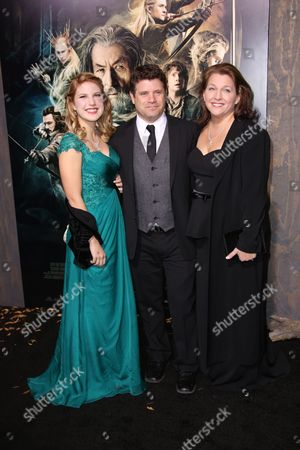 Stock Picture of Sean Astin, Christine Harrell Astin and Alexandra Astin