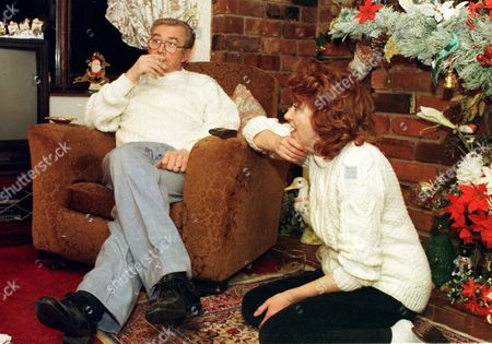 Stock Picture of Barry Hands Illegitimate Son Of Tv Presenter Hughie Green (not Shown) Here With Wife Audrey Hands 1997.