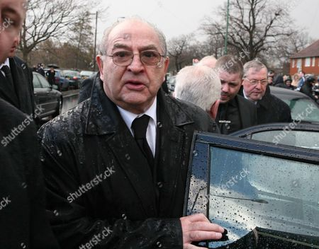 Gangster Freddie Foreman. The Funeral Of Former London Gangland Figure And Contemporary Of The Krays Joseph Pyle Held At St Theresa's R.c. Church In Sutton. Pictured Is Gangster Freddie Foreman.