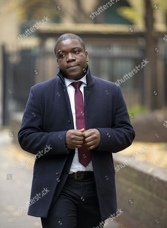 Kweku Adoboli A City Trader Who Is Accused Of Causing Ii1.4bn Of Losses For His Former Employer The Swiss Bank Ubs Arriving At Southwark Crown Court Today (16/11/12).