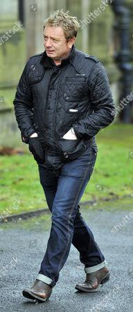 Coronation Street Actor Bill Tarmey Funeral At Albion United Reform Church Ashton-under-lyne Manchester.- Former Actor Sean Wilson.