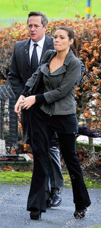 Coronation Street Actor Bill Tarmey Funeral At Albion United Reform Church Ashton-under-lyne Manchester.- Actress Alison King.