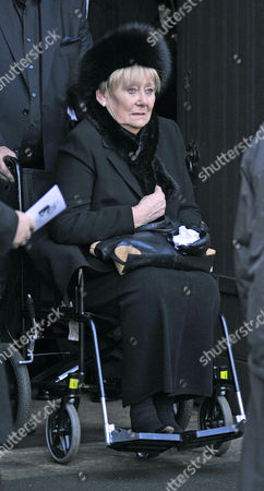 Coronation Street Actor Bill Tarmey Funeral At Albion United Reform Church Ashton-under-lyne Manchester.- Actress Liz Dawn.