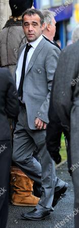 Coronation Street Actor Bill Tarmey Funeral At Albion United Reform Church Ashton-under-lyne Manchester.- Actor Michael Le-vell.
