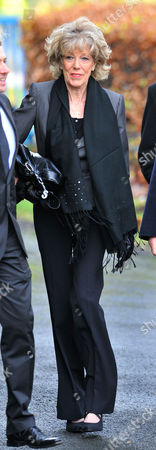 Coronation Street Actor Bill Tarmey Funeral At Albion United Reform Church Ashton-under-lyne Manchester.- Actress Sue Nicholls.