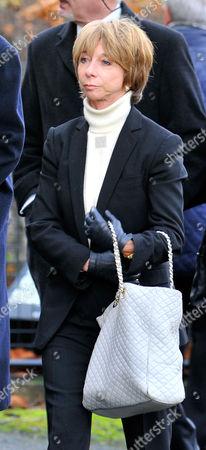 Coronation Street Actor Bill Tarmey Funeral At Albion United Reform Church Ashton-under-lyne Manchester.- Actress Helen Worth.