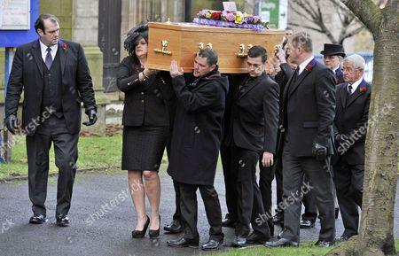 Coronation Street Actor Bill Tarmey Funeral At Albion United Reform Church Ashton-under-lyne Manchester.