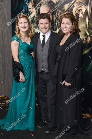 Stock Photo of Sean Astin, Christine Harrell Astin and Alexandra Astin