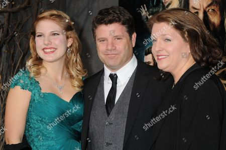 Stock Image of Sean Astin, Christine Harrell Astin and Alexandra Astin