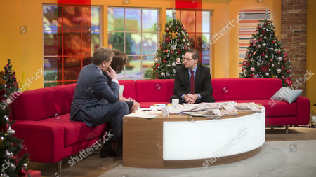 Aled Jones and Lorraine Kelly with Paul Massara