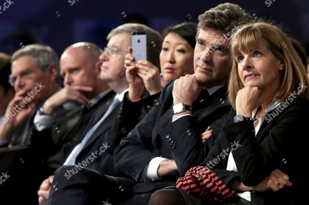 French Minister for Industrial Renewal Arnaud Montebourg and French president's Technology Adviser Anne Lauvergeon