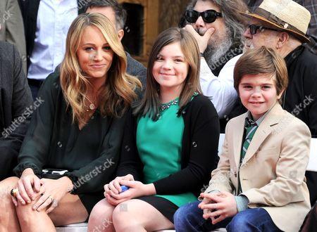 Christine Taylor and kids Ella Stiller and Quinlin Stiller