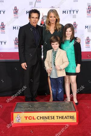 Ben Stiller, Christine Taylor, Quinlin Stiller and Ella Stiller