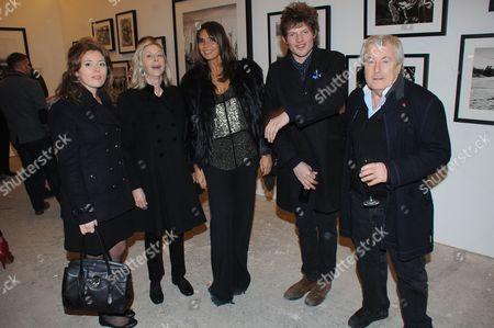 Lorraine Ashton, Debbie von Bismarck, Nikolai von Bismarck and Terry O'Neill
