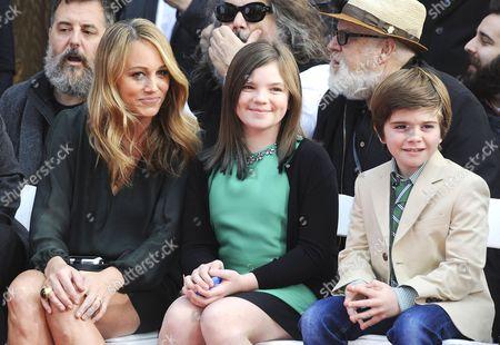 Christine Taylor, Ella Stiller and Quinlin Stiller
