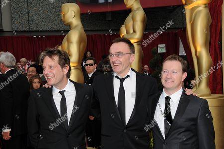Christian Coulson, Danny Boyle and Simon Beaufoy
