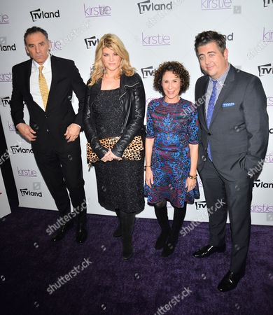 The cast of 'Kirsty' - Michael Richards, Kirstie Alley, Rhea Perlman and Eric Petersen