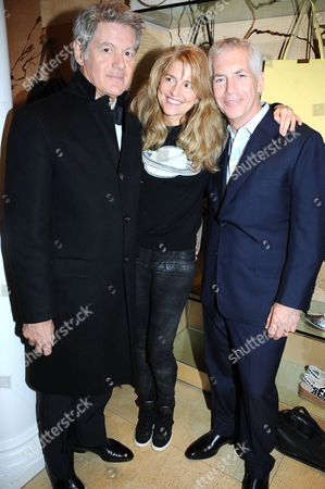 John Frieda and Avery Agnelli with guest
