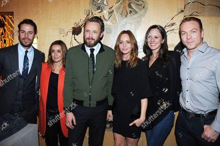 Jamie Redknapp, Louise Redknapp, Alasdhair Willis, Stella McCartney, Sarra Kemp and Chris Hoy