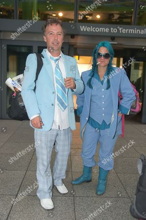 Stock Picture of Doug Stanhope and girlfriend Bingo