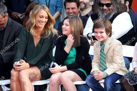 Stock Picture of Christine Taylor, Ella Stiller and Quinlin Stiller