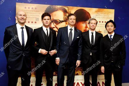 Jeremy Irvine, Colin Firth, Sam Reid and Tanroh Ishida