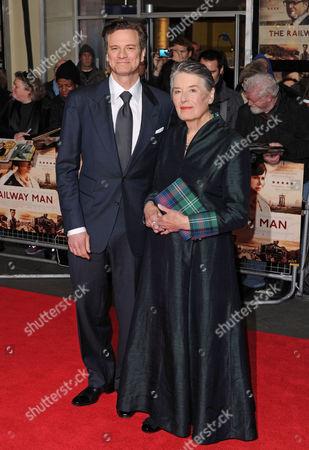 Colin Firth and Patti Lomax