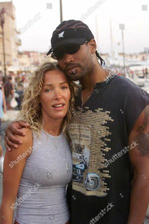 Editorial picture of OPHELIE WINTER WITH TONY DENIRO IN ST TROPEZ, FRANCE - JUL 2001