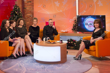 Jane Wake, Paula Lane, Nadia Sawalha, Kimberley Walsh and Mark Heyes with Lorraine Kelly