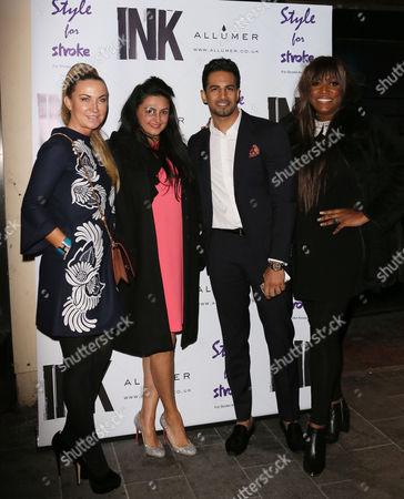 Meg Mathews, Kiran Sharma, Upen Patel and Mica Paris