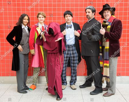 Jessica Khan as Paul McGann, Emily Monaghan as Colin Baker, Shelley Row as a Headless Monk, Fred Kirkham as Patrick Troughton, Tony Reynolds as the Original Master, Roger Delgado and LIam Finnegan as Tom Baker
