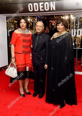 Zenani Mandela, Anant Singh and Zindzi Mandela