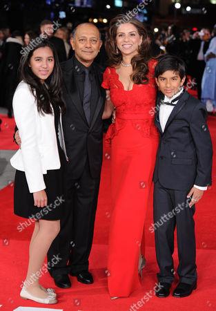 Anant Singh, wife Vanashree Singh and family
