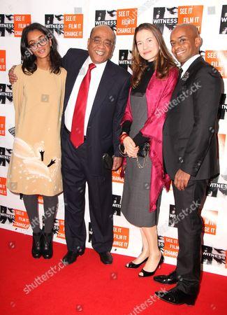 Dr Mo Ibrahim with daughter Hadeel Ibrahim and guests