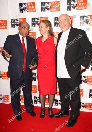 Dr Mo Ibrahim, Yvette Alberdingk Thijm and Peter Gabriel