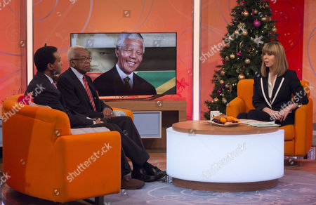 Rageh Omaar and Sir Trevor McDonald with Kate Garraway.