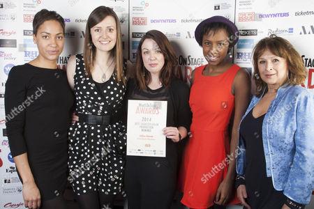 Stock Picture of Cush Jumbo, Clare Dunne, Danielle Ward, Jade Anouka and Ishia Bennison