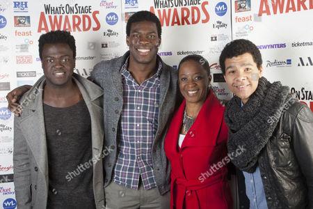 Kyle Scatliffe, Adebayo Bolaji, Dawn Hope and Emile Ruddock