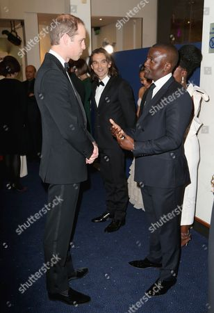 Prince William meets actor Tony Kgoroge