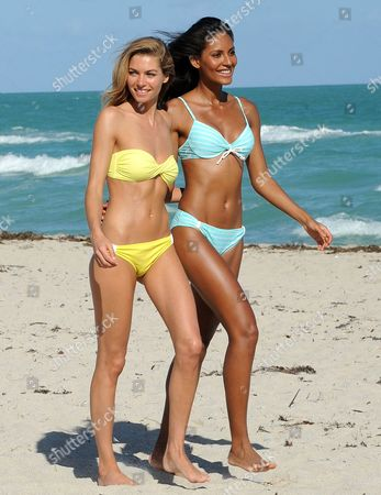 Jessica Hart and Emanuela de Paula