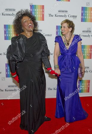 Jessye Norman, left, and Adrienne Arsht, right