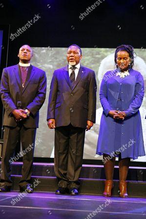 Pastor Mosa Sono, Deputy President Kgalema Motlanthe and his partner Gugu Mtshali