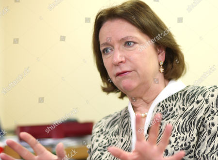 Angela Knight In Her Office At The British Banking Association.