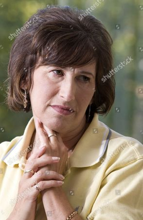 Stock Image of Janice Winehouse Mother Of Amy Winehouse Pictured Wearing Amy's Trade Mark Top.