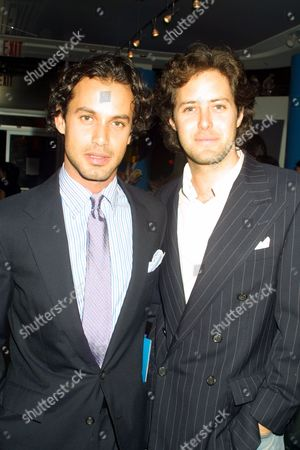 Andrew Lauren (left) and David Lauren (Ralph Lauren's sons) at the grand opening of Dylan's Candy Bar, a sweet haven for the ultimate candy lover, founded by Dylan Lauren (Ralph Lauren's daughter), in New York City on October 16, 2001. All proceeds from the evening's sales benefit the Twin Towers Fund.